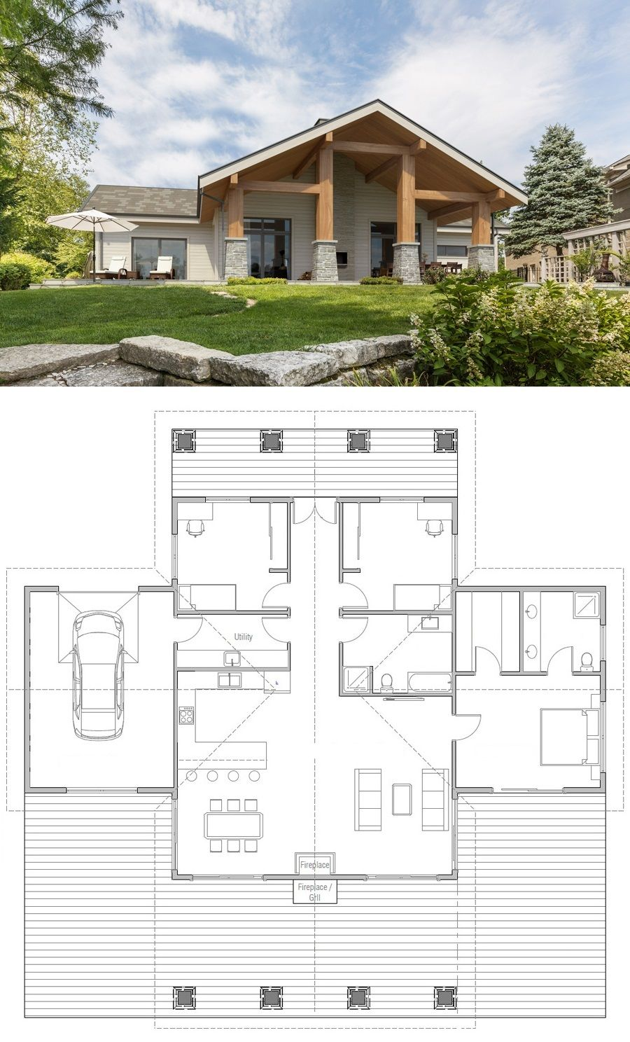 House Plan Ch447 Building A House New House Plans Barn House Plans