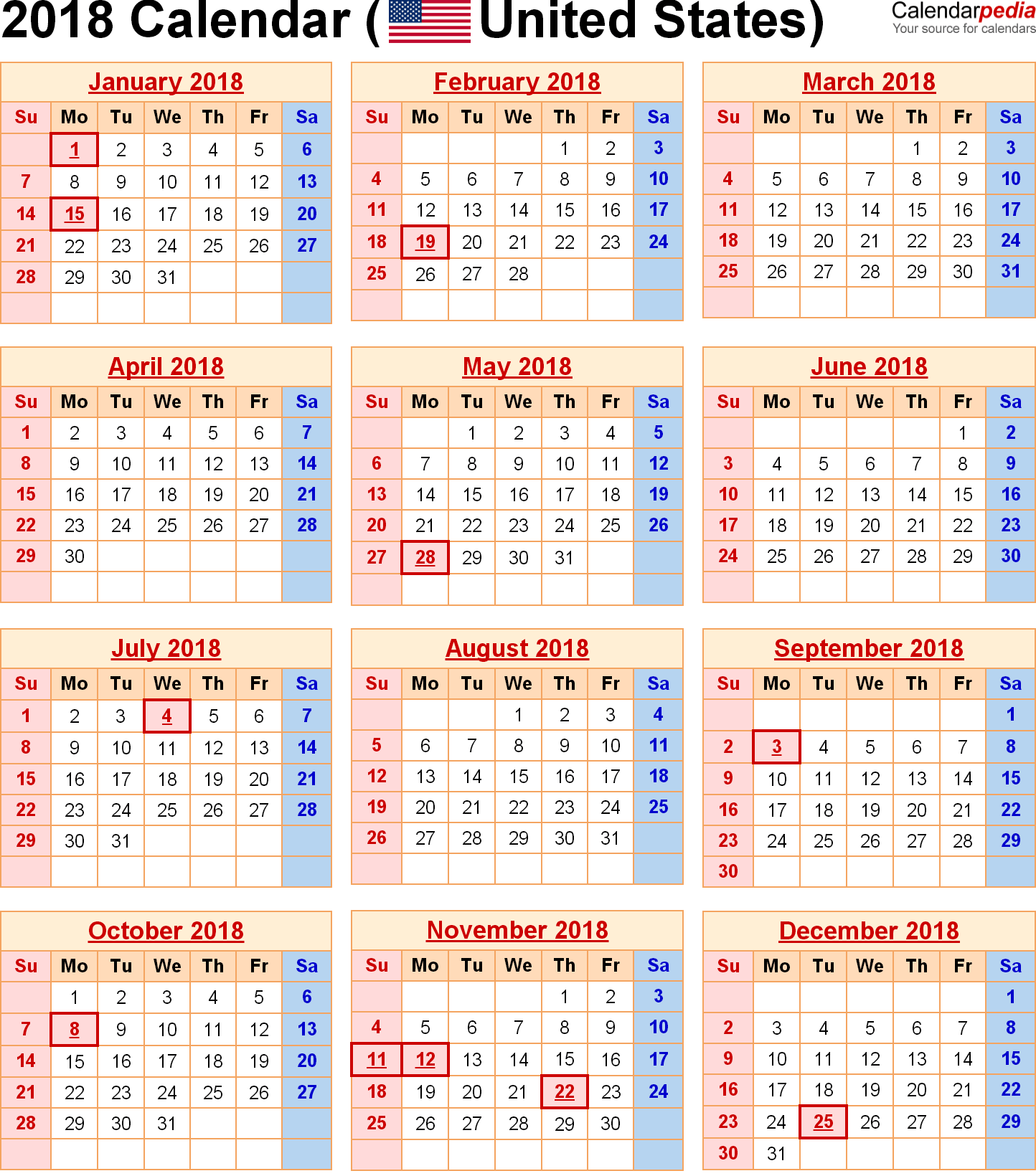 Monthly Calendar Usa : Calendar united states holidays calendars