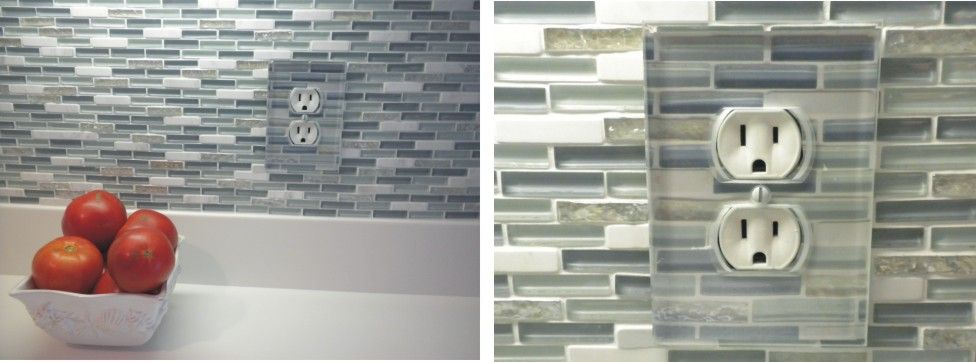 Beveled Paintable Clear Glass Switchplates In Many Configurations For Your  Glass Splashes Or Anywhere In Your Home.