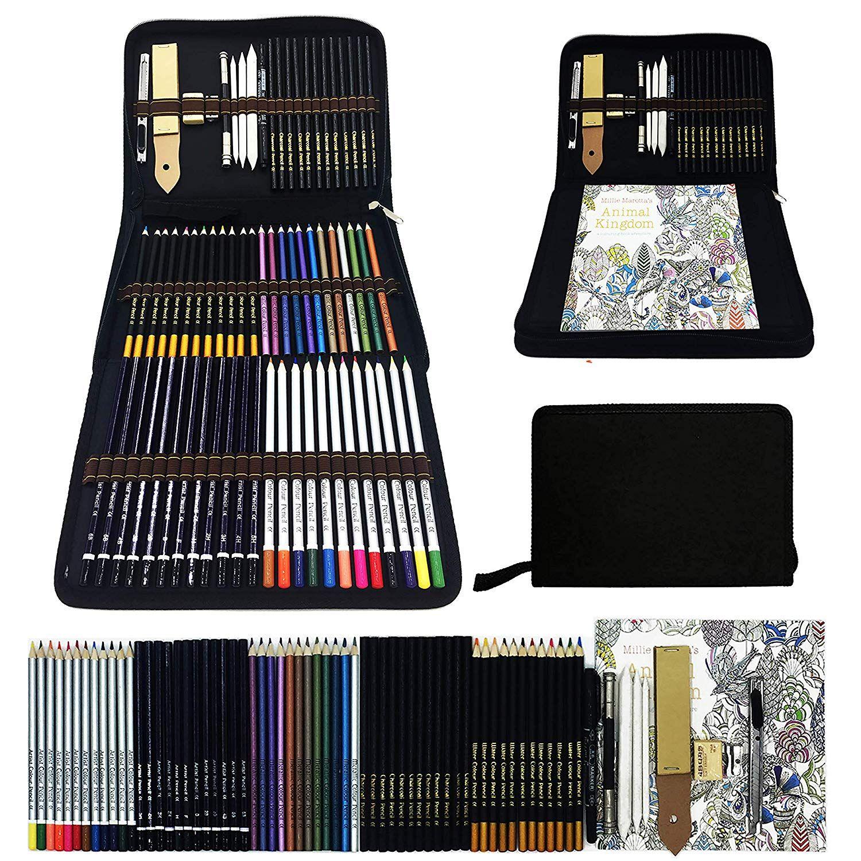Caran DACHE Supracolor Caja de Madera Regalo conjuntos de bosquejo de Artista Lápiz soluble en agua