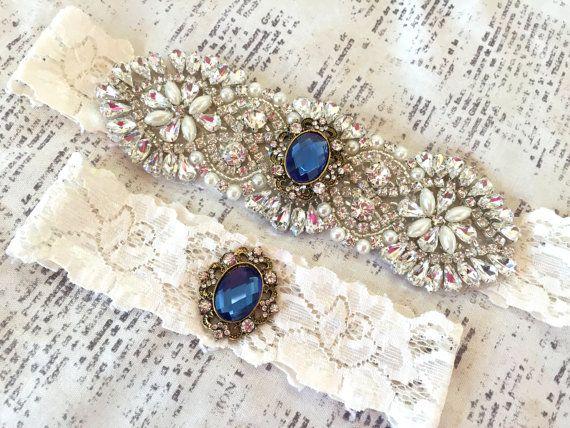 Something Blue Wedding Garter, Wedding Garter Blue, Blue Bridal ...