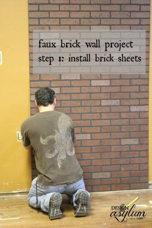 Diy Making Faux Brick Walls Look Old