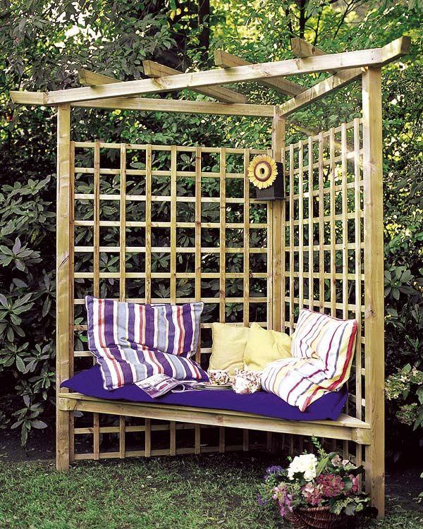 DECORAR LA TERRAZA , EL PORCHE, EL PATIO Garden seat, Gardens and - como decorar una terraza