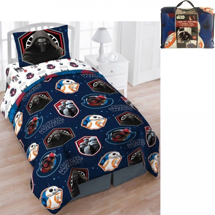 Star Wars Twin Bedding Set Bed In A Bag 5 Piece With Bonus Tote