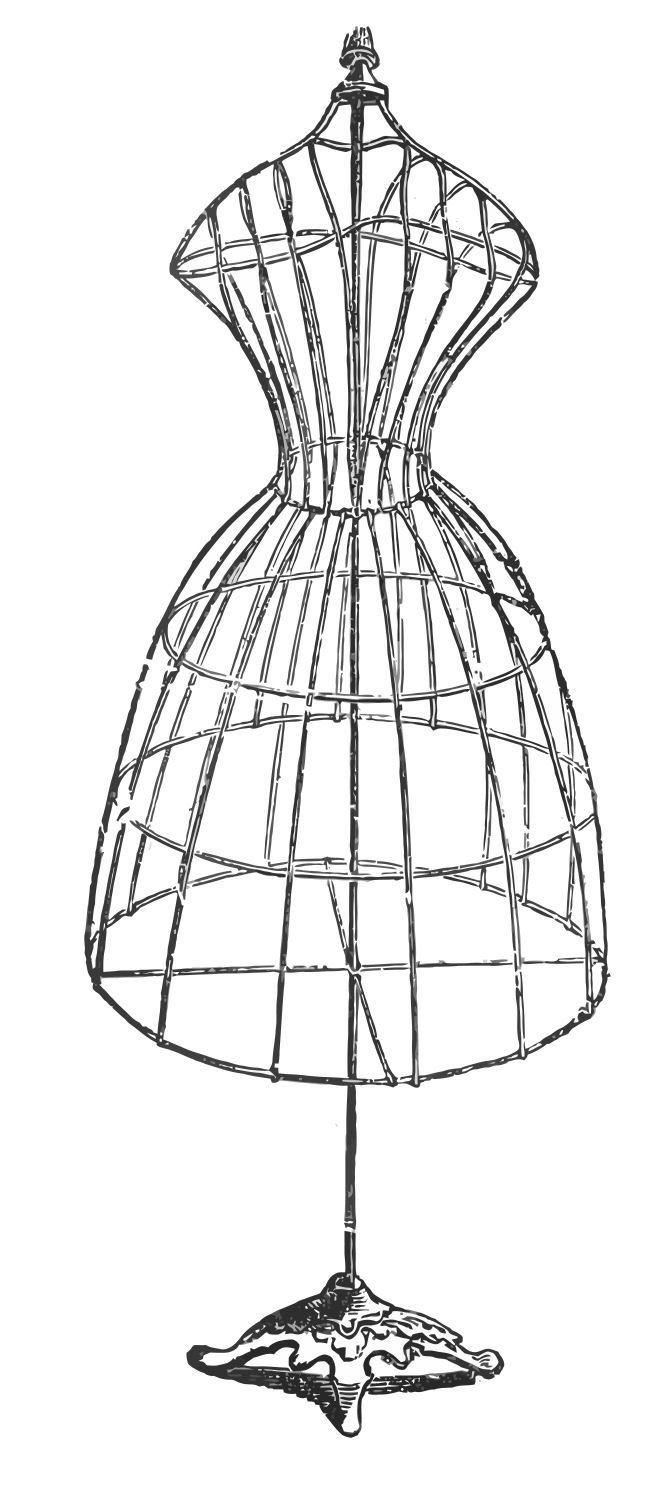 Vintage Image Download - Antique Wire Dress Form | Projects to Try ...