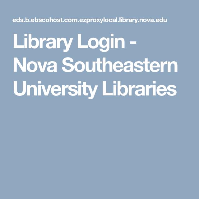 Library Login Nova Southeastern University Librarie Special Education Dissertation Template