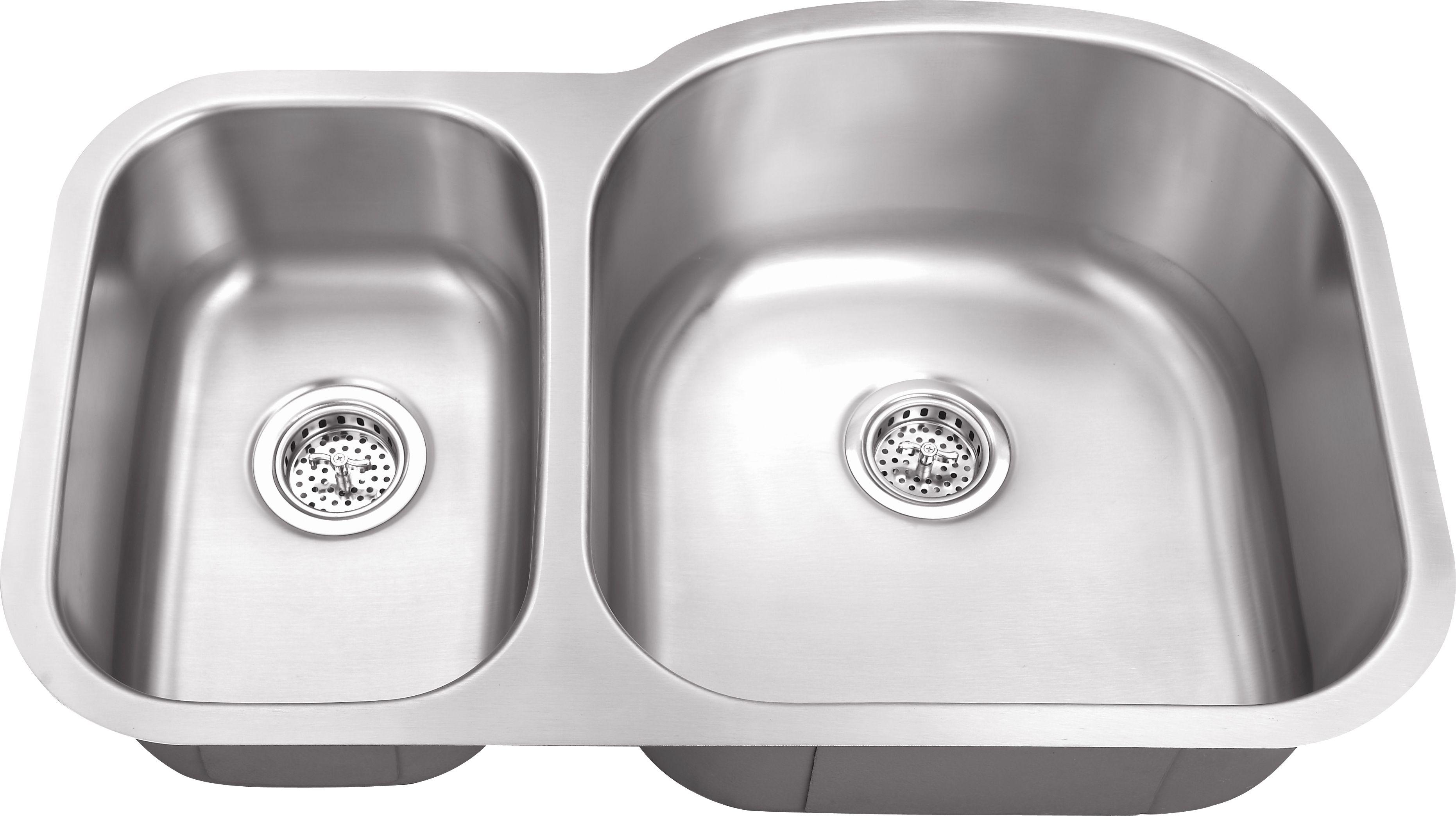 M 308rv 18 gauge euro style double bowl undermount stainless steel kitchen sink 30