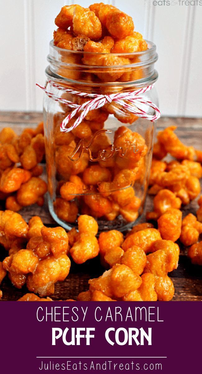 Cheesy Caramel Puff Corn ~ Easy, snack you can make in the microwave! A perfection of sweet, salty and a hint of cheese! Trust me on this one! Got a holiday party you want to bring a snack too? A Football party? A New Years Eve party? A..I want to sit o