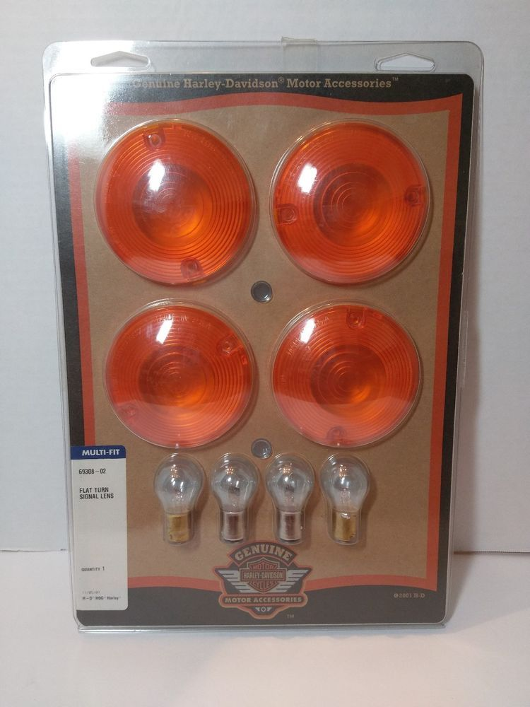 Harley Davidson Turn Signal Lens Kit 4 Pack Orange Flat