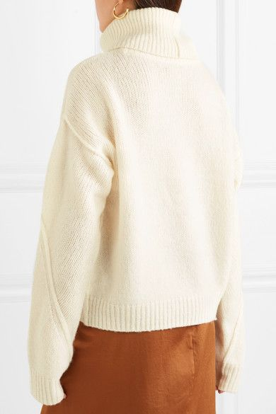 0476a72e2b Tory Burch - Eva convertible oversized wool-blend turtleneck sweater
