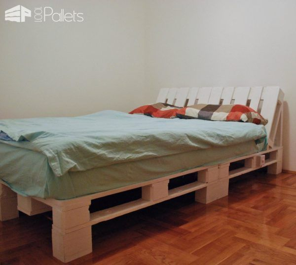 Underlit Pallet Double Bed DIY Bedroom