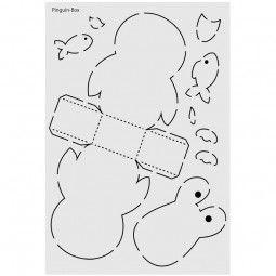 design schablone nr 8 pinguin box din a4 geschenk verpacken pinterest. Black Bedroom Furniture Sets. Home Design Ideas