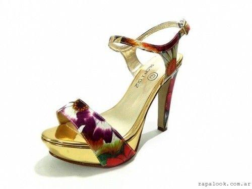 2c68f8a3 PALOMA CRUZ - sandalias de noche estampada floral verano 2016 | moda ...