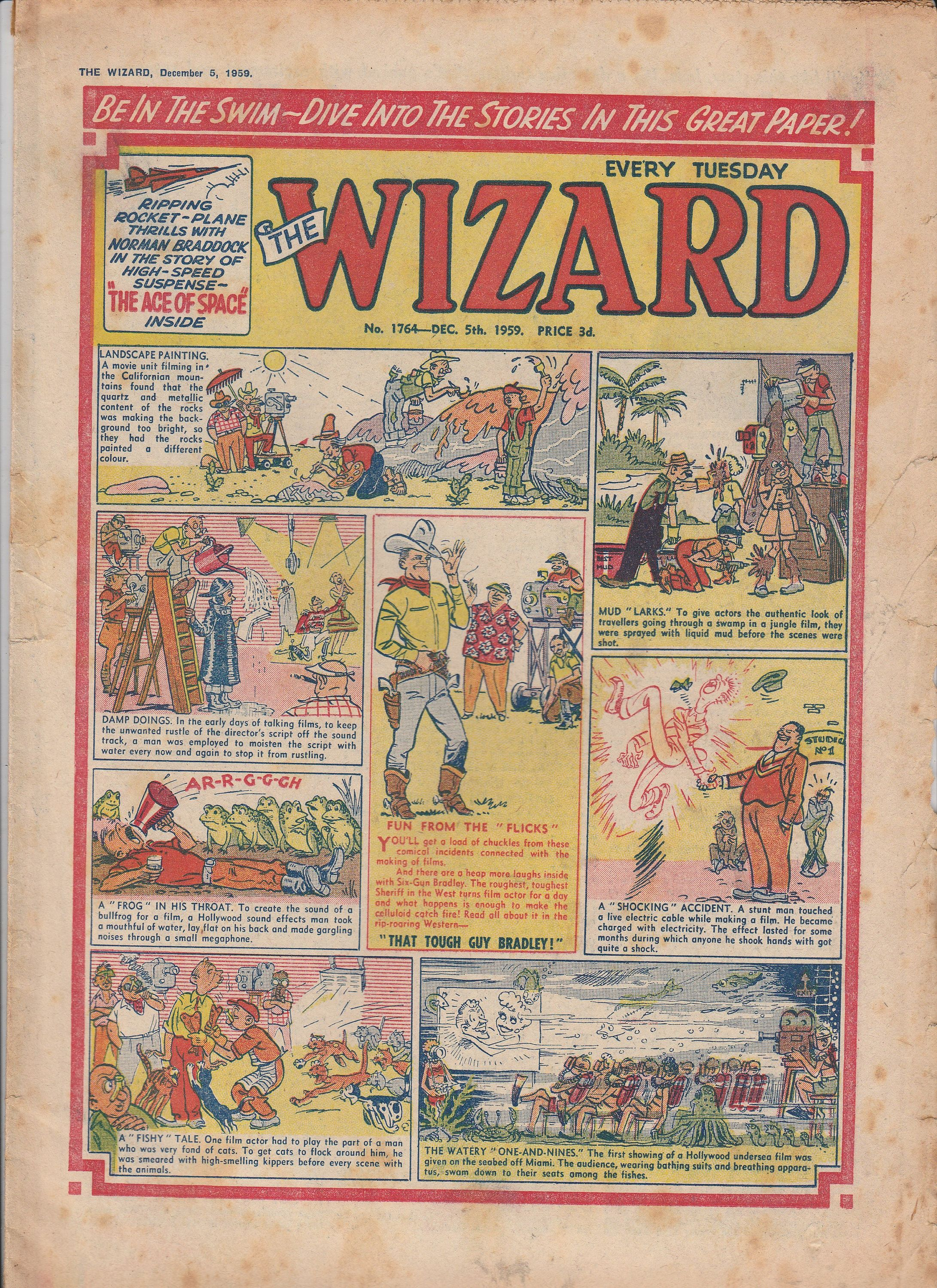 Vintage Comics The Wizard Comics Wizard 1950s No 1764 By