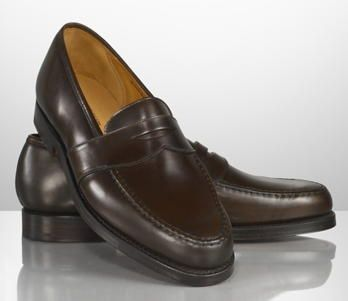 Ralph Lauren  Marlow Penny Loafer - This handsome and versatile penny loafer is crafted from shell cordovan leather and finished with double-needle-stitched detailing.