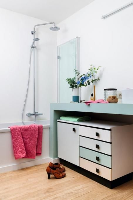Badkamer schilderen | Design ideas | Pinterest - Badkamer, Blauw en ...