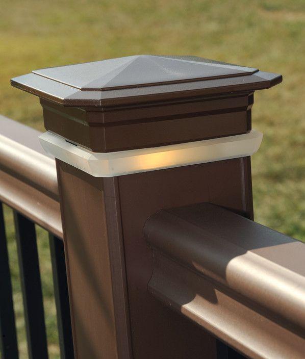 Timbertech deck post cap lights view 2