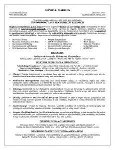 Resume biochemistry phd