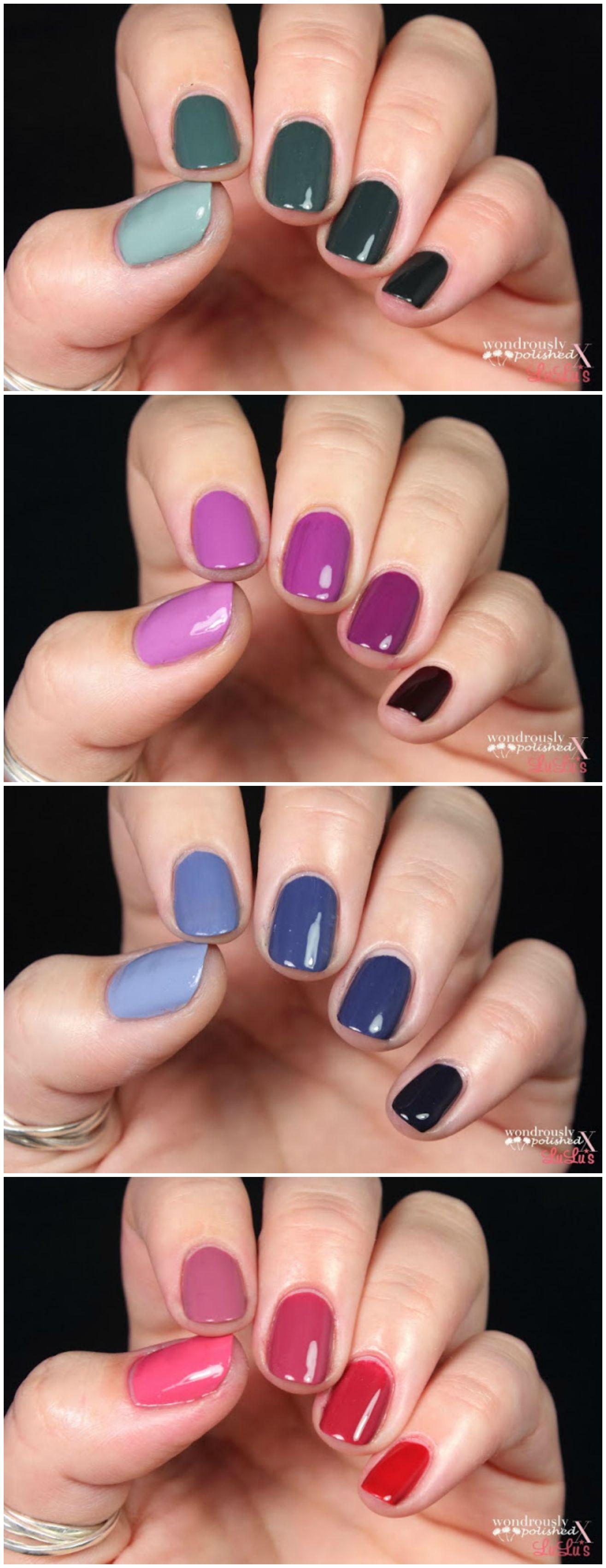 Nail art color violet - Mani Monday Five Color Ombre Nail Tutorial