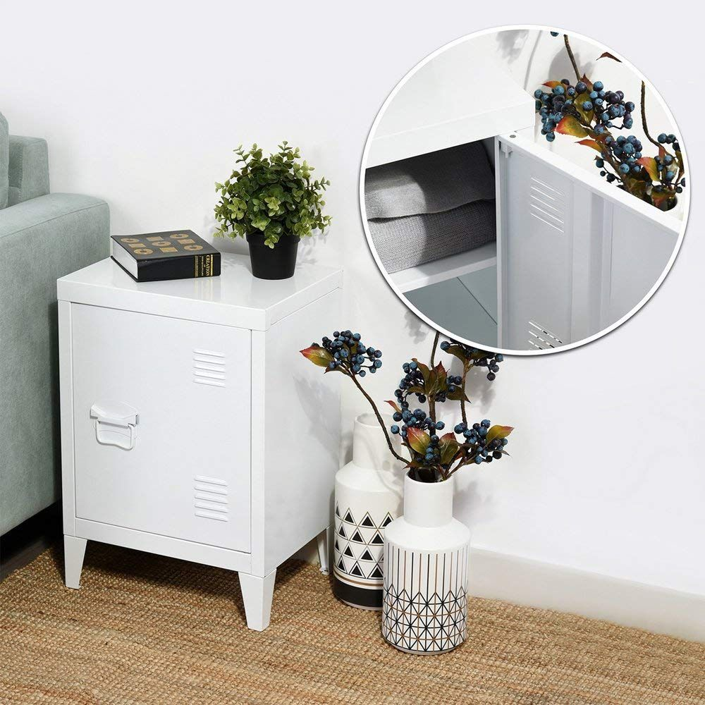 Houseinbox Com Storage Side Table With Drawer And Shelves Home Kitchen Kolenik Furniture