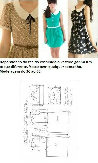 Vestido vintage com gola boneca | Pinterest | Anleitung zum ...