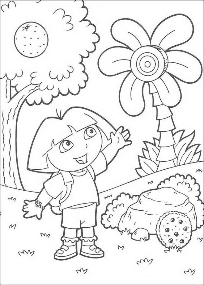 Kleurplaat Dora De Verkenner Dora Art I Love Pinterest