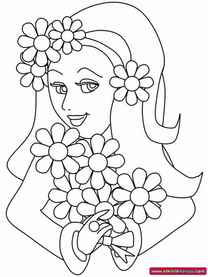 Pani Wiosna Coloring Pictures For Kids Cartoon Coloring Pages Toddler Coloring Book