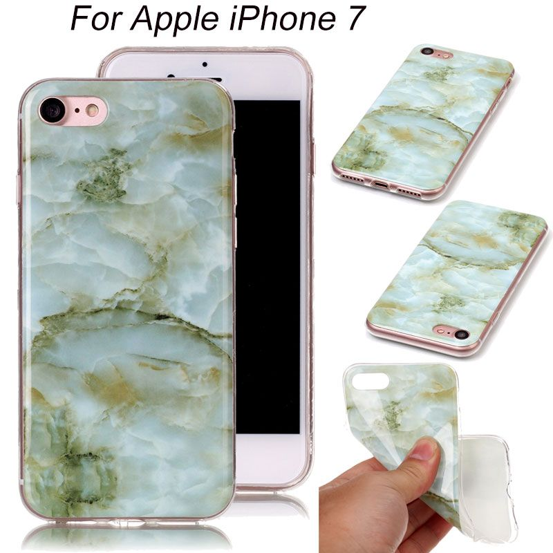 For iPhone 7 Phone Case Transparent Edges Marble Pattern Soft Silicone TPU Back Cover for iPhone 7 Plus Mobile Phone Cases Casos