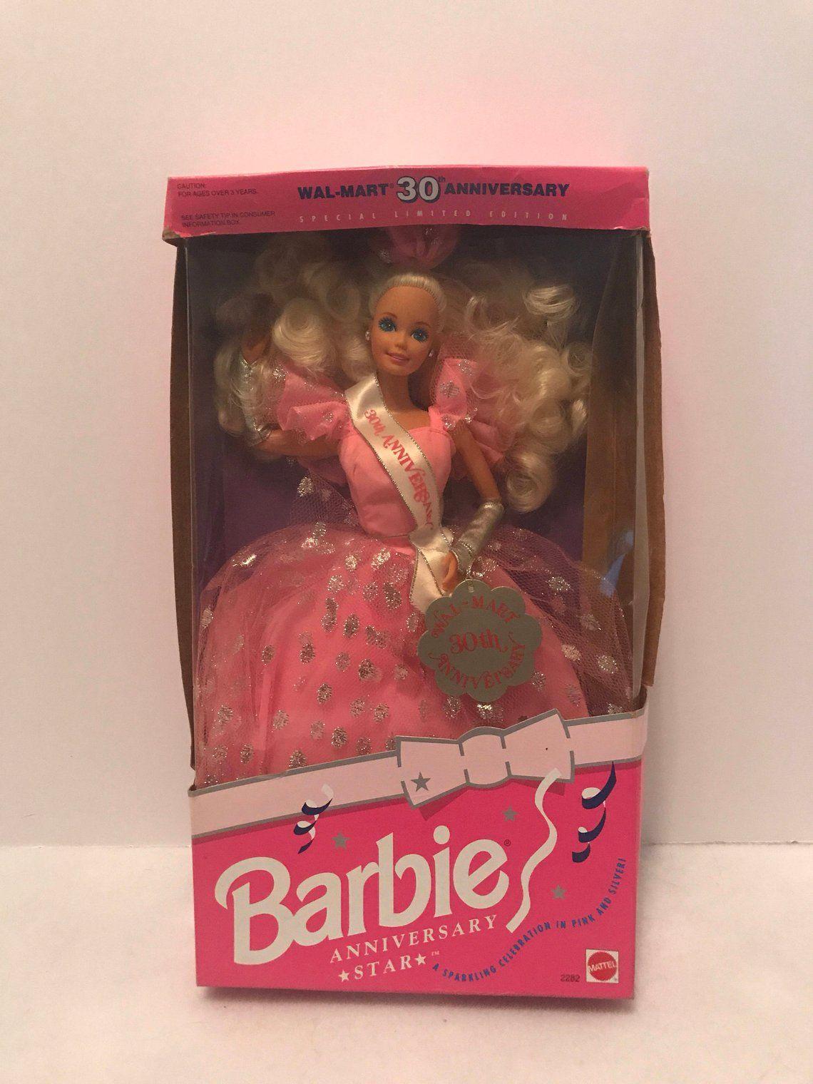 1992 Walmart 30th Anniversary Star Barbie Doll Etsy Vintage Barbie Dolls Barbie Dolls Beautiful Barbie Dolls