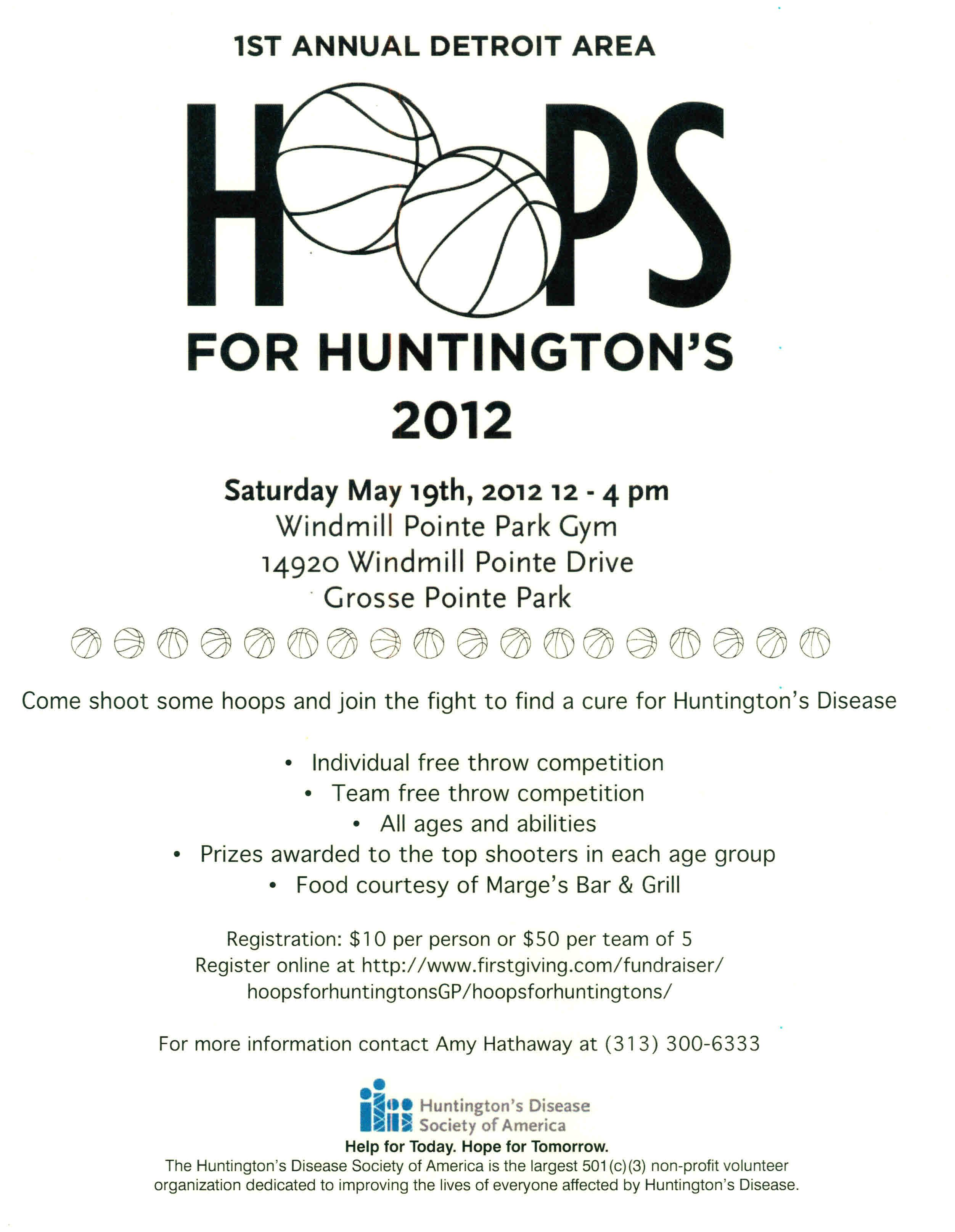 Hoops For Huntington S On May 19 In Grosse