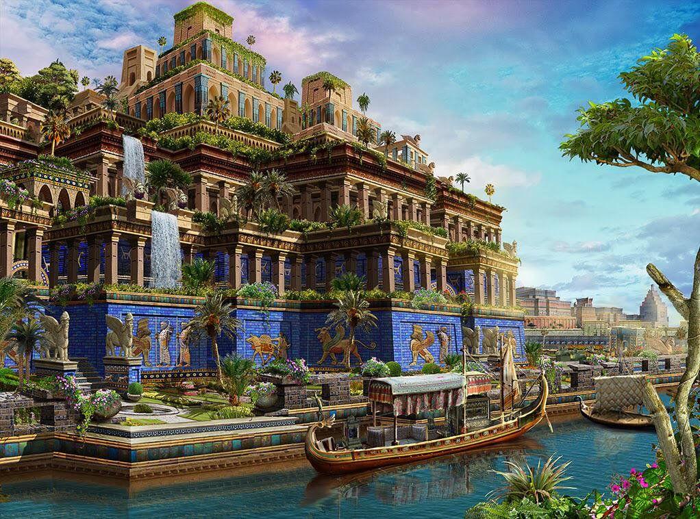 Pin Von Danilo Zimmer Auf Altes In 2020 Hangender Garten Antike Griechische Architektur Hangende Garten Von Babylon