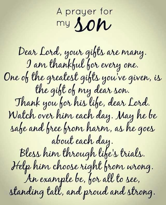 I Love My Son Quotes And Sayings Gorgeous Prayer For My Son  Good Thoughts  Pinterest  Sons Bible And