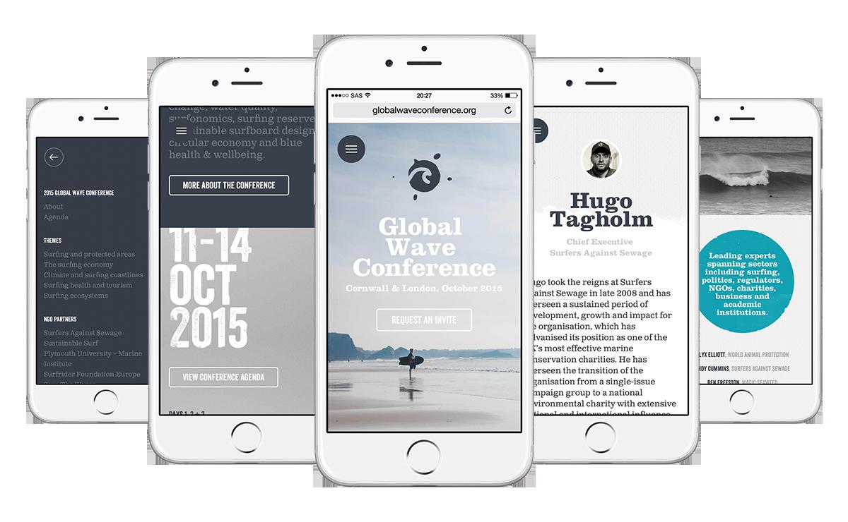Global Wave Conference 2015 On Behance Web Design Waves Conference