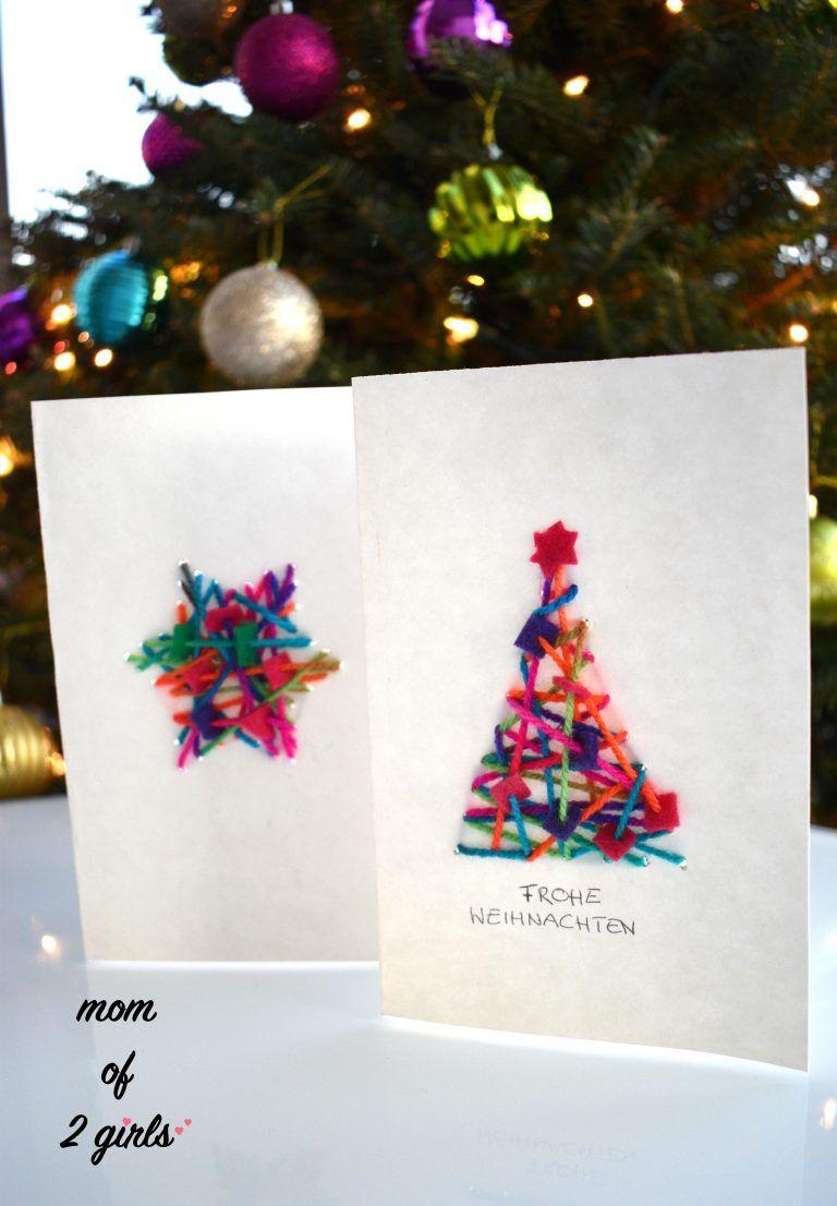 Diy Weihnachtskarten Basteln Winter Weihnachten Weihnachten