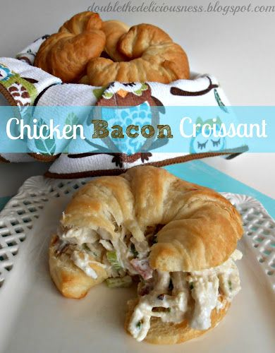 Double the Deliciousness: Chicken Bacon Croissant