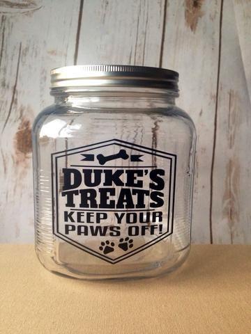 Dog Treat Jar, Personalized Dog Treat Jar, Cat Treat Jar, Pet Treats, Customized Pet Gift, Dog Gifts, Cat Gifts, Funny Dog Gift