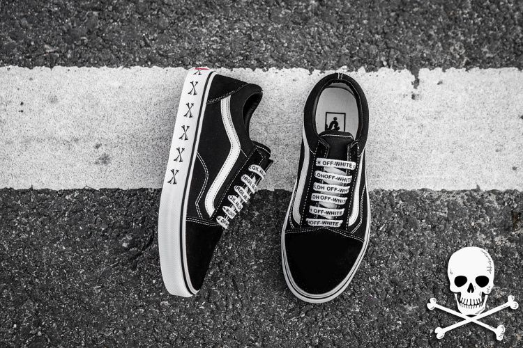 eb0d833990 OFF-WHITE WTAPS VANS Oldskool Bone joint Yu Wenle Xishan Che 2017ss  skateboard shoes in the body for black canvas
