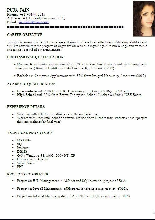 Accountant Cv Format Latest Resume Format For Accountant In Canada