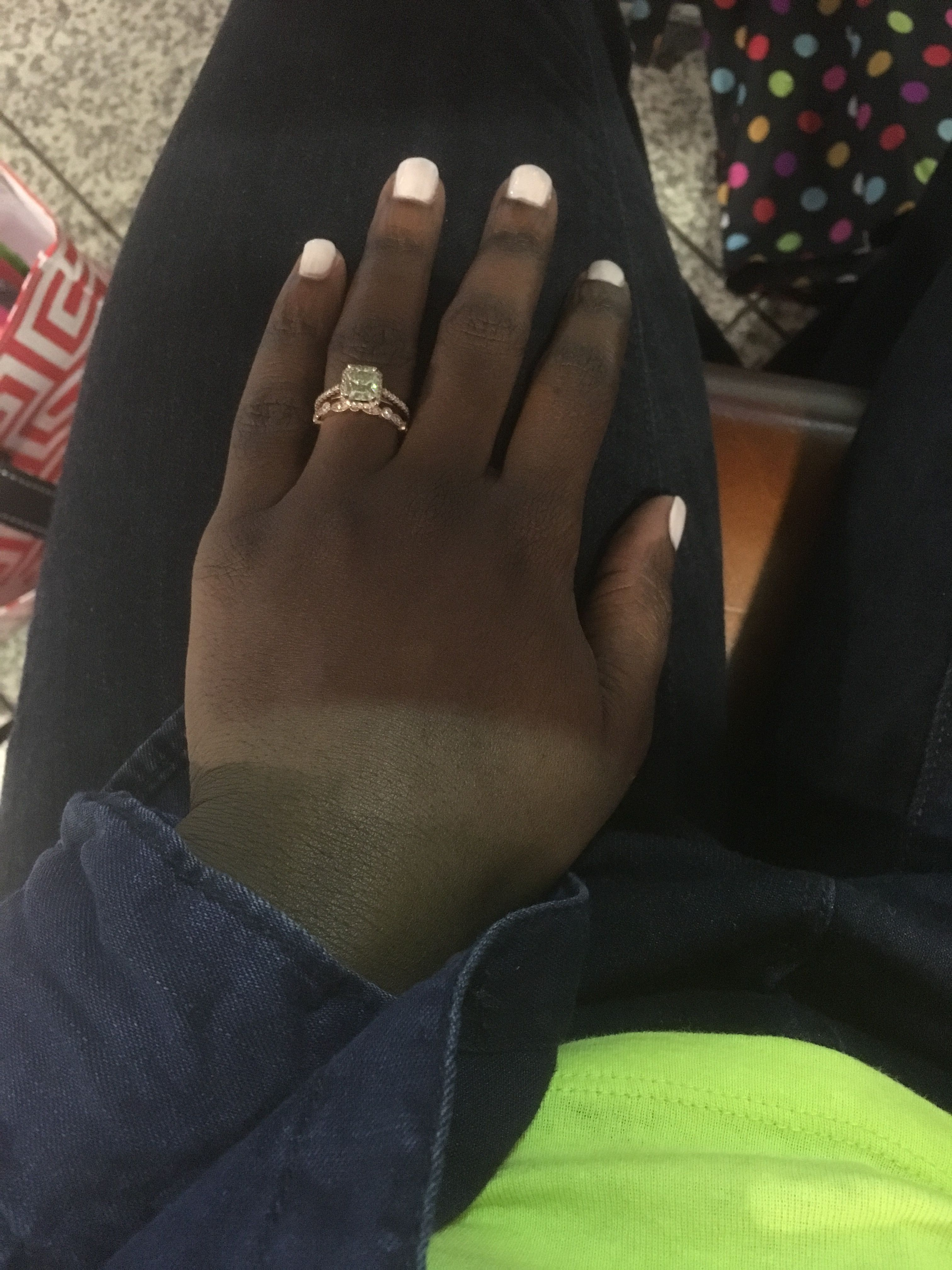 Rose Gold On Darker Skin Tones Post Pics Page 2 Page 2 Peach Sapphire Engagement Ring Brown Engagement Rings Dark Skin