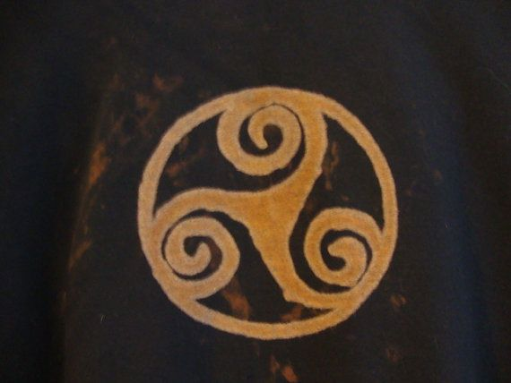Triskelion Bleached Out Sweat Shirt OOAK by crystallightworks, $45.00