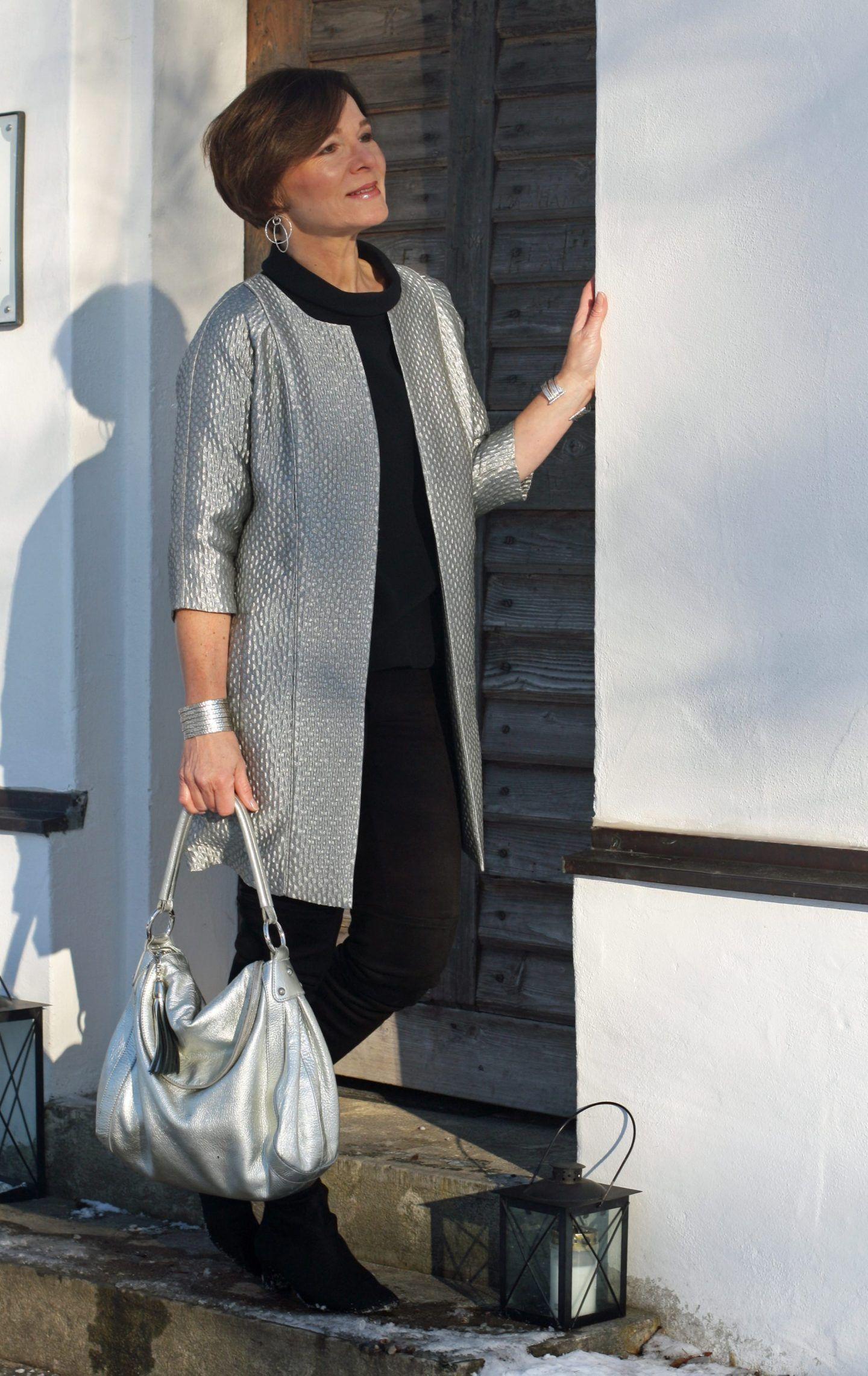 Easy chic im Winter in Schwarz und kühlem Silber | Annette
