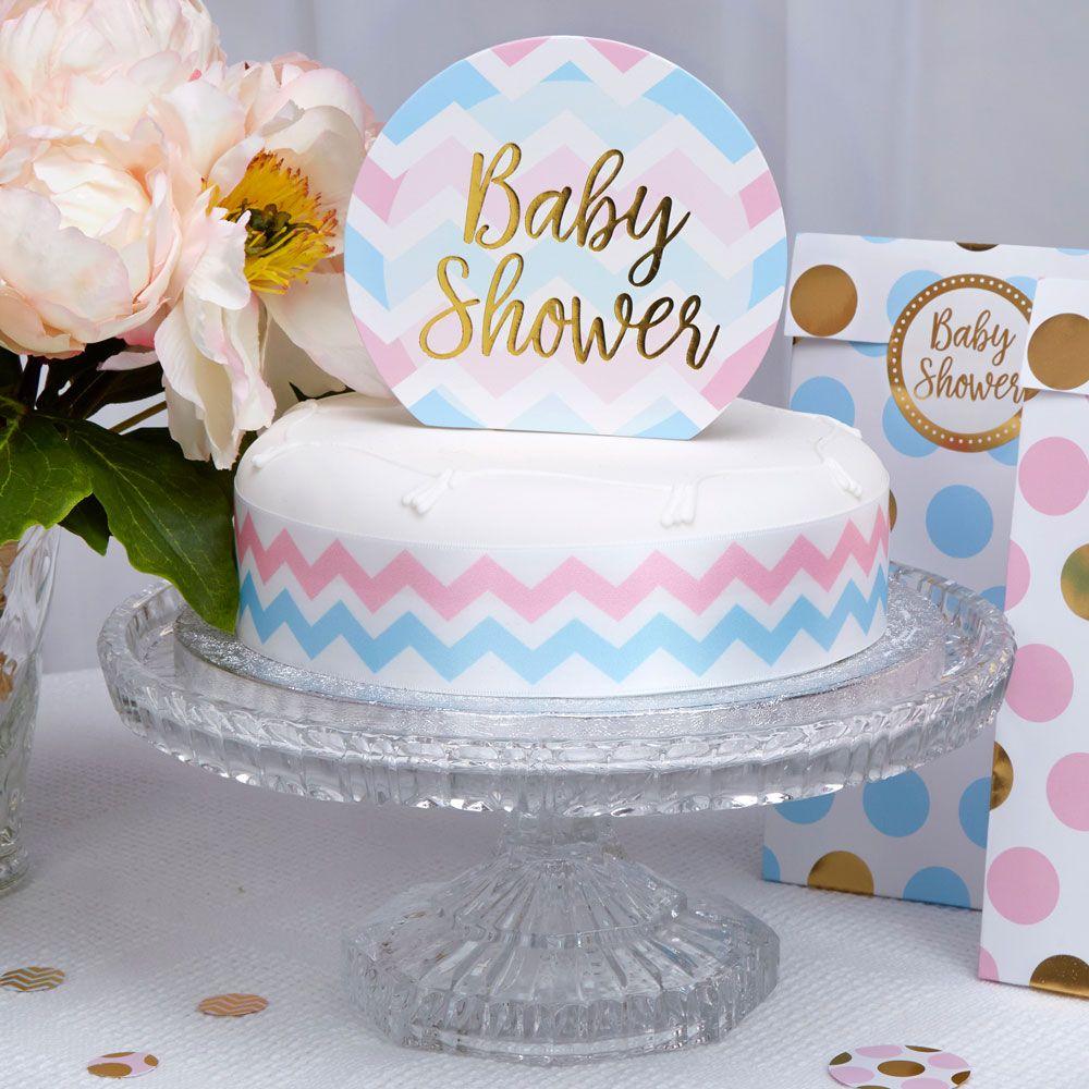 garçon Unisexe Baby Shower Tablecovers-Plastique Bleu Rose Vaisselle fille