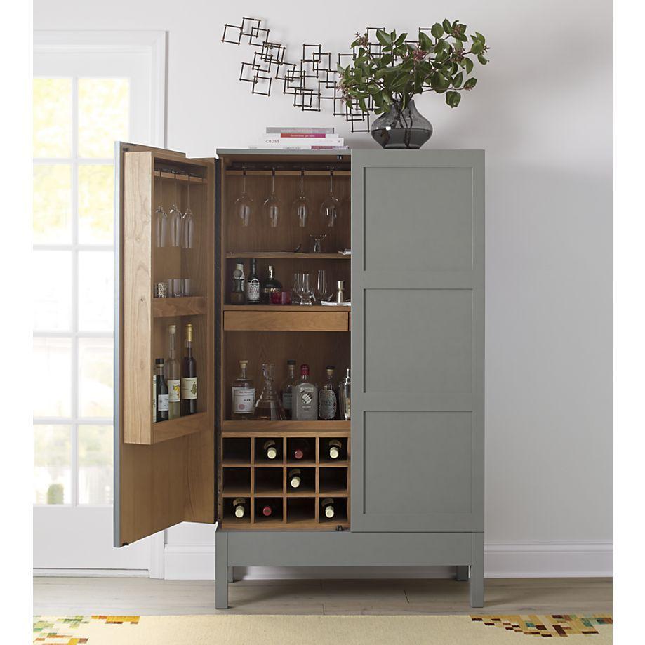 Victuals Grey Bar Cabinet In Bar Cabinets Amp Bar Carts