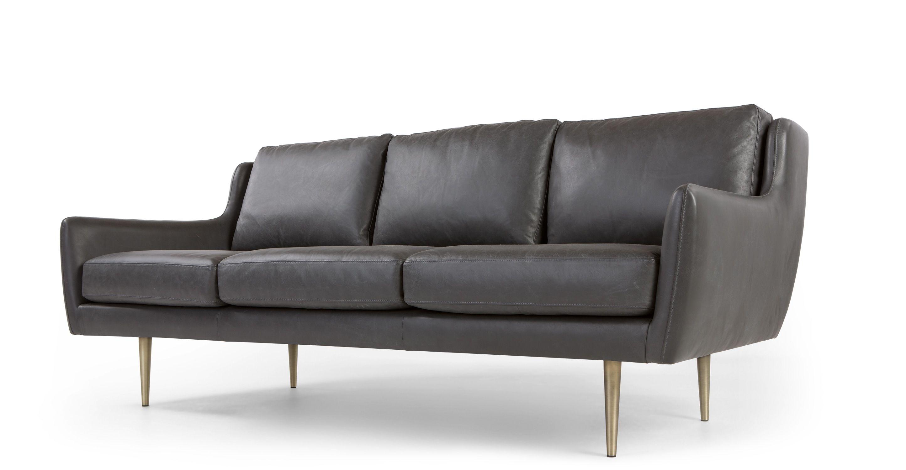 Simone 3 Sitzer Sofa Premium Leder In Oxfordgrau Made Com Jetzt Bestellen Unter Https Moebel Ladendirekt De Wohnzi Modernes Ledersofa Sofas 3 Sitzer Sofa