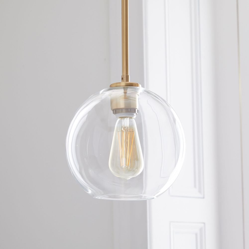 Sculptural glass globe pendant small for the home pinterest