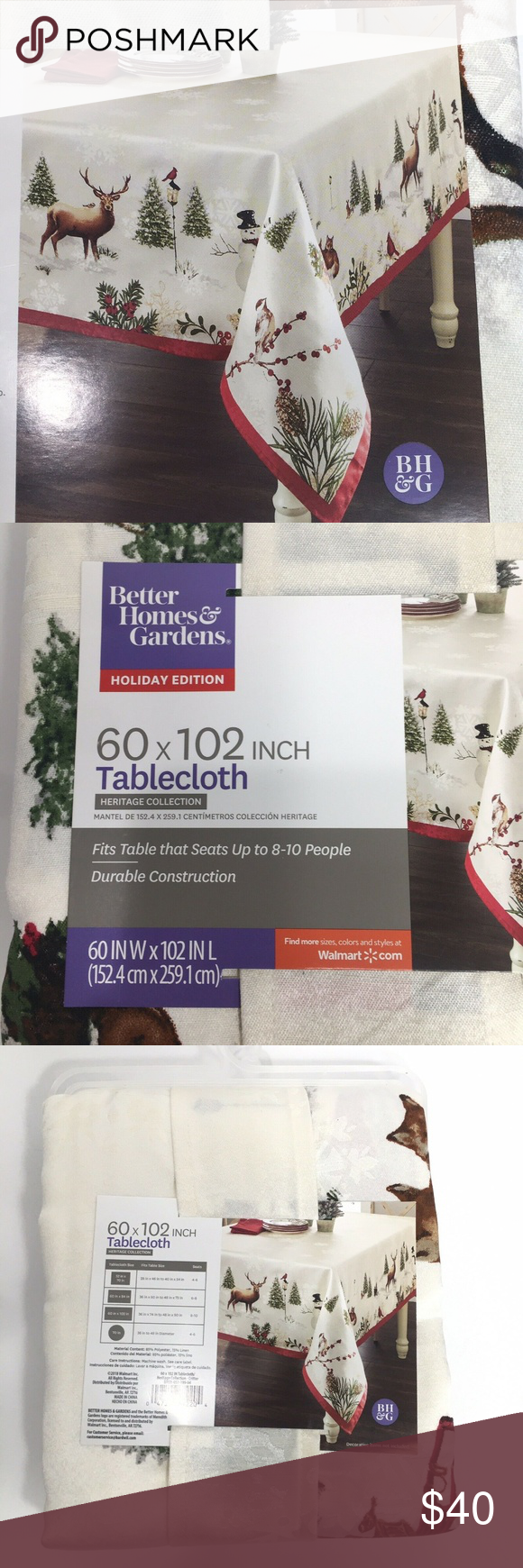 Better Homes And Gardens Holiday Edition Tablecloth
