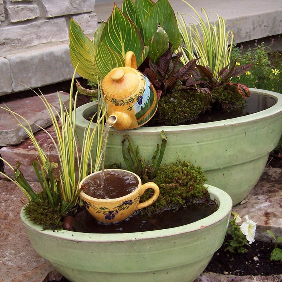 Water Container Garden: Amazing Front & Backyard Ideas