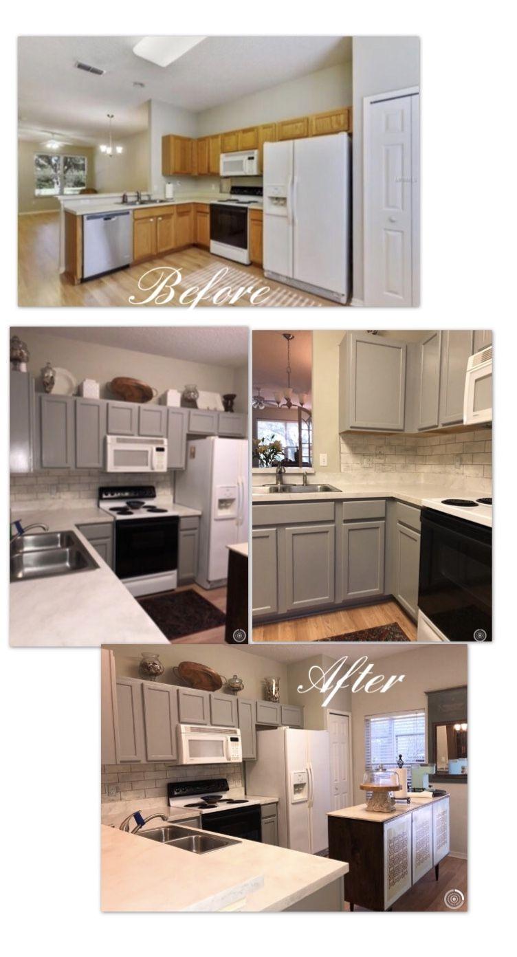 Painted Kitchen Cabinets Küchenschränke Malen Schrank Küche