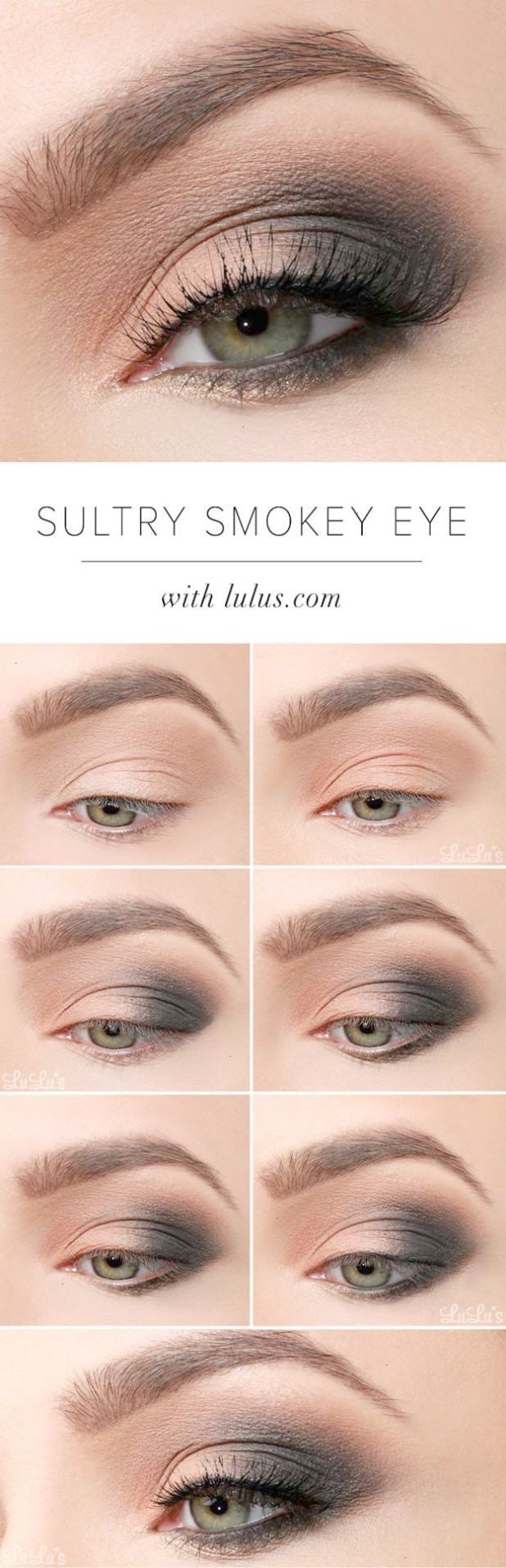 sexy eye makeup tutorials - sultry smokey eye makeup tutorial - easy