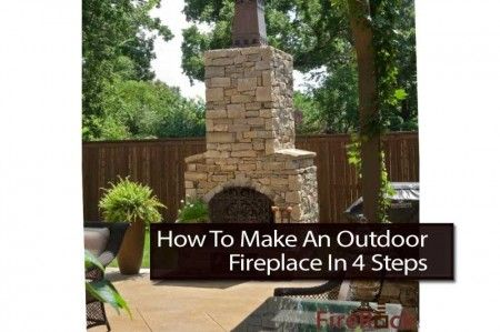 how to make an outdoor fireplace in 4 steps a fireplace brings a welcomed warmth to any. Black Bedroom Furniture Sets. Home Design Ideas